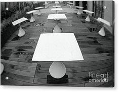 White Tables Acrylic Print