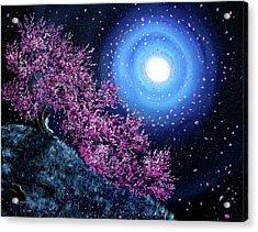 White Tara In Cascading Sakura Acrylic Print