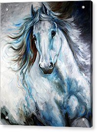 White Thunder Arabian Abstract Acrylic Print