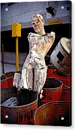 Acrylic Print featuring the photograph White Trash by Skip Hunt