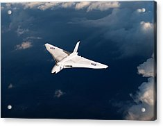 Acrylic Print featuring the digital art White Vulcan B1 At Altitude by Gary Eason