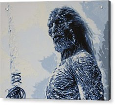Acrylic Print featuring the painting White Walker by Luis Ludzska