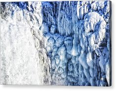 Acrylic Print featuring the photograph White Water And Blue Ice Gullfoss Waterfall Iceland by Matthias Hauser