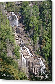 White Water Falls Nc Acrylic Print by Lane Owen