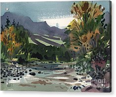 White Water On The White River Acrylic Print by Donald Maier