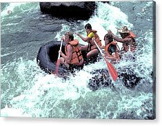 White Water Rafting Acrylic Print by Carl Purcell