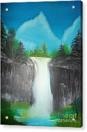 White Waterfall Acrylic Print