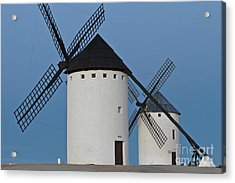 Acrylic Print featuring the photograph White Windmills by Heiko Koehrer-Wagner