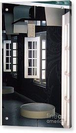 White Windows Acrylic Print by Andrea Simon