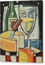White Wine And Cheese Acrylic Print by Tim Nyberg