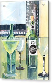 White Wine Acrylic Print by Arline Wagner