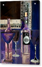 White Wine Inverted Acrylic Print by Arline Wagner