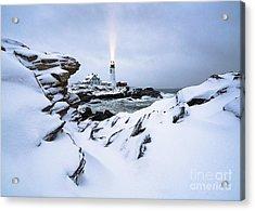 White Winter Acrylic Print by Benjamin Williamson