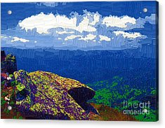 Whiteface Mountain View Acrylic Print by Diane E Berry