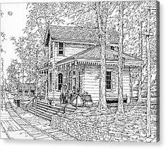 Whitehall Station Bryn Mawr Pennsylvania Acrylic Print