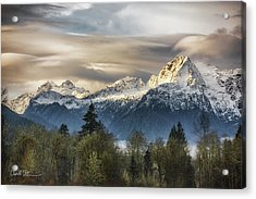 Whitehorse Sunrise, Flowing Clouds Acrylic Print