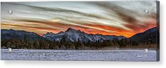 Whitehorse Sunset Panorama Acrylic Print