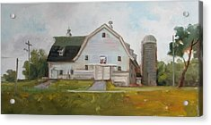 Whitehouse Dairy Barn Acrylic Print by Nora Sallows