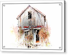 Whiteout In Opequon Acrylic Print by Suzanne Stout