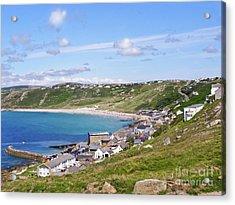 Whitesand Bay Cornwall Acrylic Print by Terri Waters