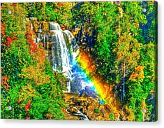 Whitewater Rainbow Acrylic Print