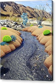Whitewater Acrylic Print by Snake Jagger