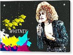 Whitney Houston Acrylic Print by Manjot Singh Sachdeva