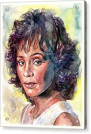 Whitney Houston Portrait Acrylic Print