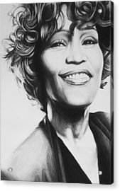 Whitney Houston Acrylic Print by Steve Hunter