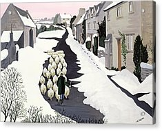 Whittington In Winter Acrylic Print by Maggie Rowe