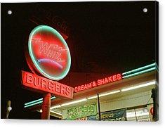 Whiz Burgers Neon, San Francisco Acrylic Print
