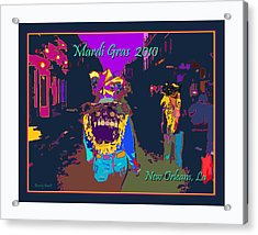 Who Dat At Night In The Quarter Acrylic Print