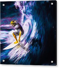 Who Likes To #surf. #surfing Is #fun Acrylic Print