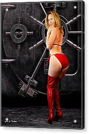 Who Me Open This Vault Acrylic Print by Jon Volden