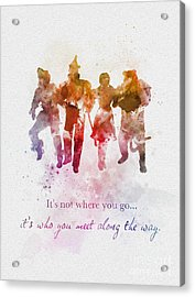 Who You Meet Along The Way Acrylic Print