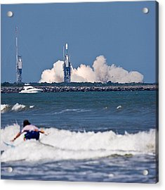 Whoah Dude It's A Rocket Acrylic Print by Ron Dubin