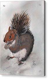 Who's Had Me Nuts Acrylic Print by Carole Robins