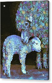 Whose Little Lamb Are You? Acrylic Print by Jane Schnetlage