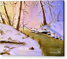 Whose Woods These Are Acrylic Print