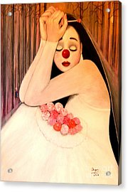 Why Is The Bride Crying Acrylic Print by Patricia Velasquez de Mera