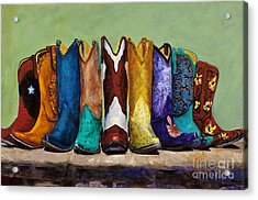 Acrylic Print featuring the painting Why Real Men Want To Be Cowboys by Frances Marino