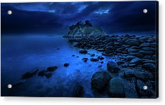 Acrylic Print featuring the photograph Whytecliff Dusk by John Poon