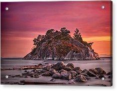 Whytecliff Island Sunset Acrylic Print