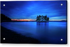 Acrylic Print featuring the photograph Whytecliff Sunset by John Poon