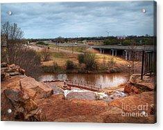 Wichita Falls View Acrylic Print by Fred Lassmann
