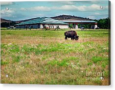 Wichita Mountain Wildlife Reserve Welcome Center II Acrylic Print by Tamyra Ayles