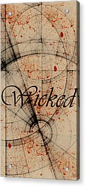 Acrylic Print featuring the digital art Wicked by Cynthia Powell