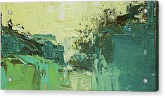 Wide Abstract H Acrylic Print by Becky Kim