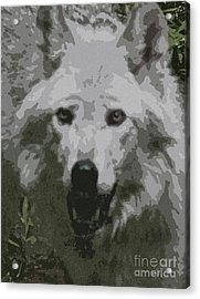 Acrylic Print featuring the painting Wide Eyes Vision by Debra     Vatalaro