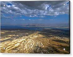 Wide View From Masada Acrylic Print